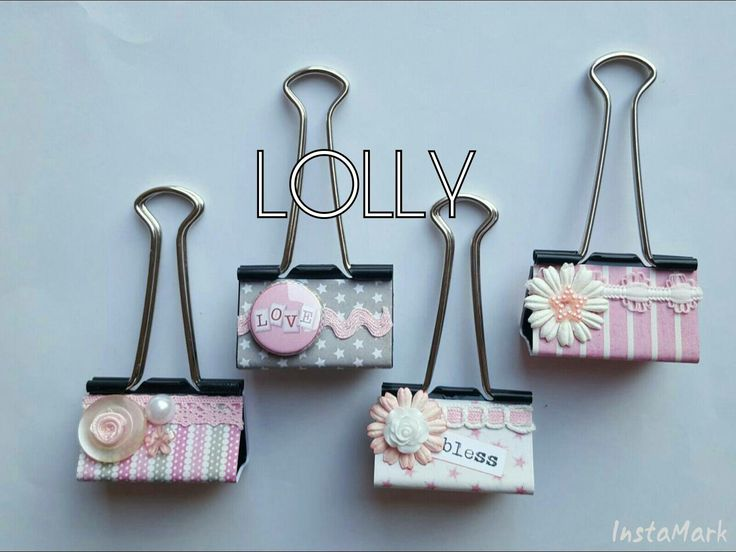 Altered binder clips by Lolly