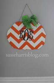 Susie Harris: Monogram Pumpkin DIY