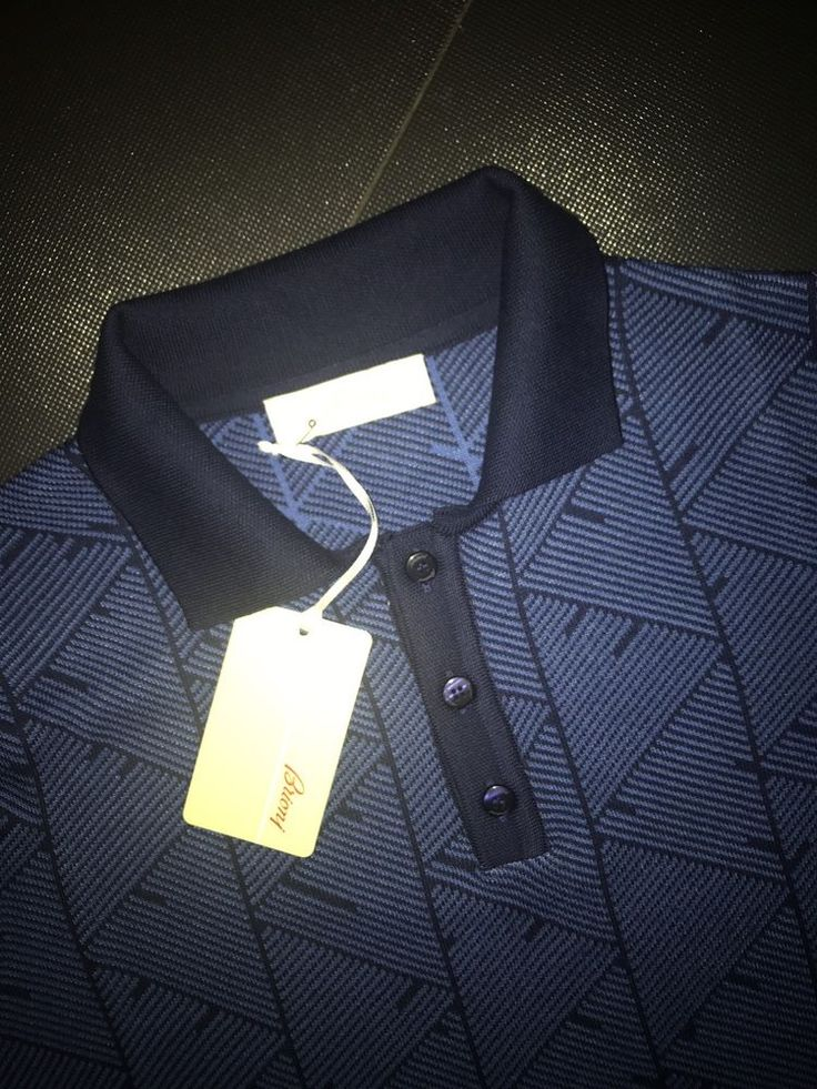 Brioni Polo tshirt  Long sleeve size M Color  Blue Mens Knitwear #Brioni #BasicTee