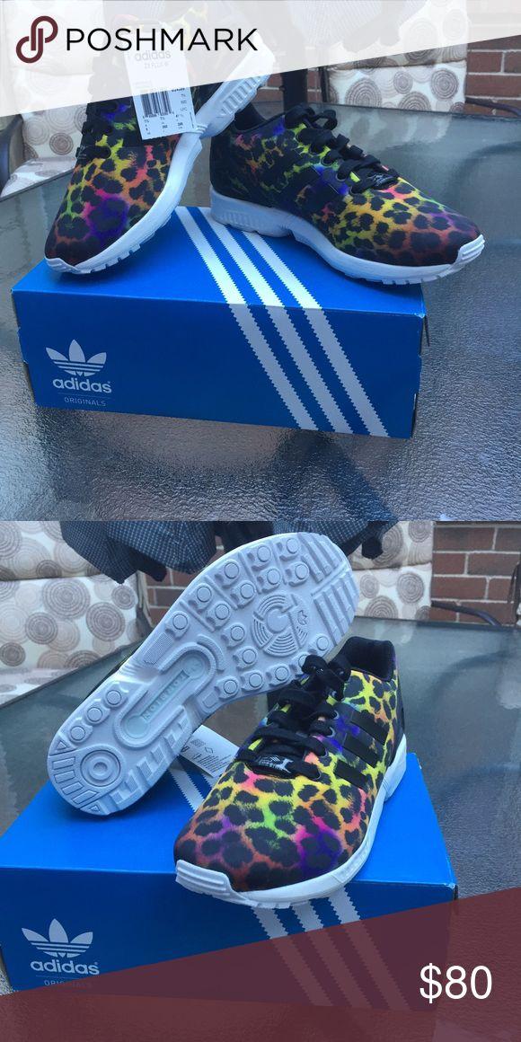 Adidas ZX flux Multicolor print WOMENS size 7.5 Adidas WOMENS multicolored leopard print size 7.5 adidas Shoes Athletic Shoes