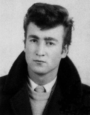 Young John Lennon. Probably still in art school.