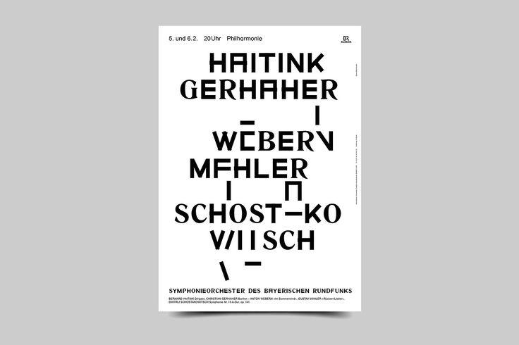 bureauborsche:  Symphonie Orchester des Bayerische Rundfunk Poster Series Bureau Mirko Borsche