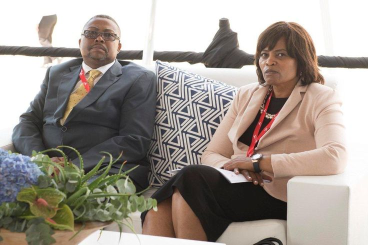 Ms Linda Mabaso, Chairperson: Transnet Board with Mr Siyabonga Gama, our acting Group Chief Executive before the graduation.