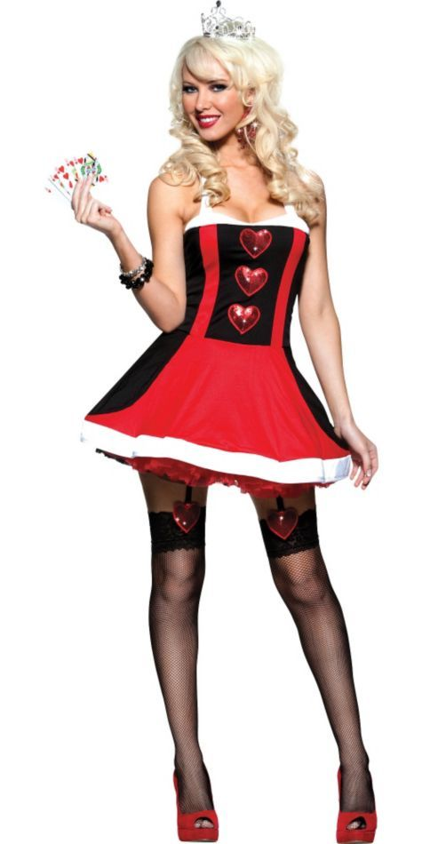 adult valentines queen of hearts costume work - Halloween Costume For Work Ideas