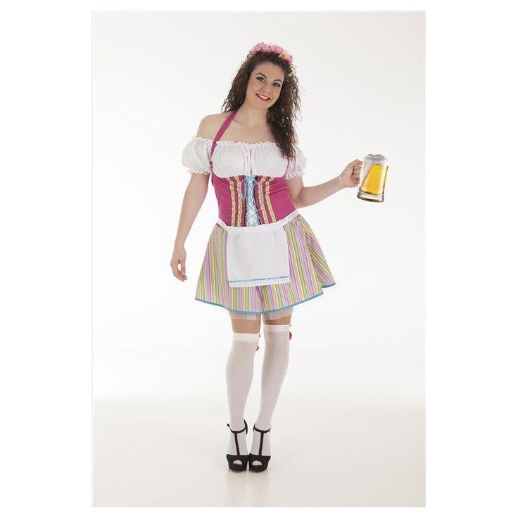 Disfraz Alemana Rayas Adulto
