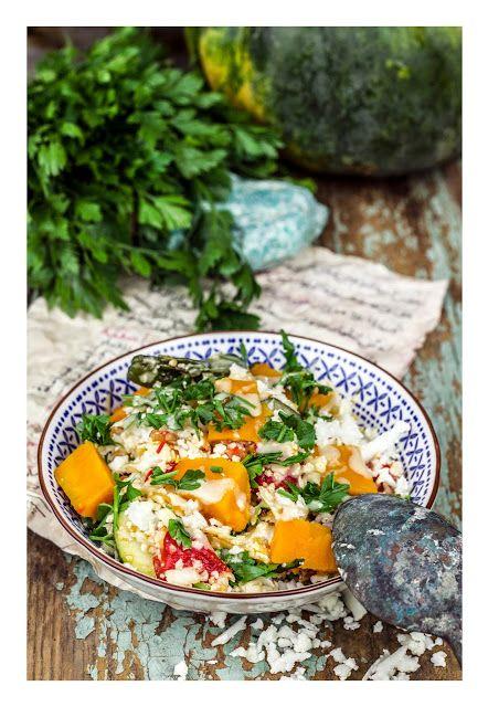 Vegan cauliflower couscous with pumpkin