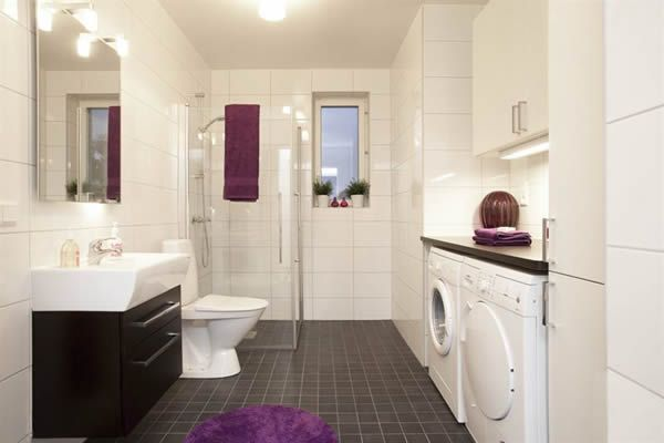 Combine bathroom/laundry for extra space? Too contemporary but similar layout to mine