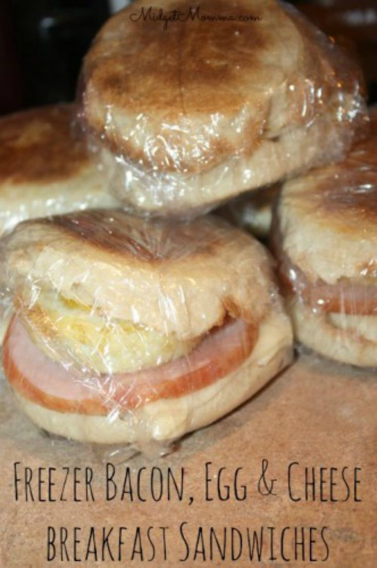 Stock the freezer with these Canadian Bacon Egg & Cheese Breakfast Sandwiches and have yummy breakfast all the time and quick too! Quick to prep then freeze and reheat when you want to eat them!