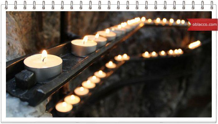 Декупаж свечи с помощью фена   oblacco