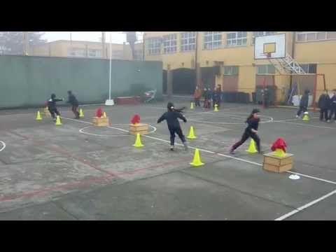 Juegos Educación Física - Desafío Lateral - YouTube