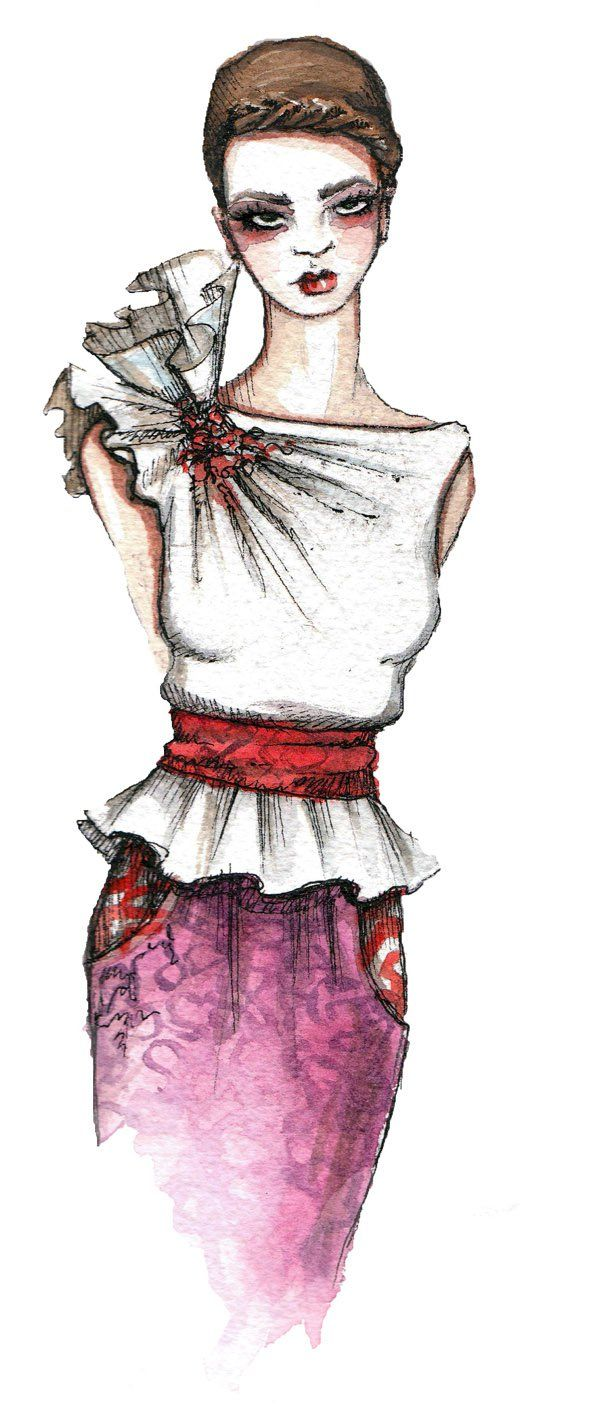 Fashion sketches by Katie Rodgers - 50 Amazing Fashion Sketches  <3 <3