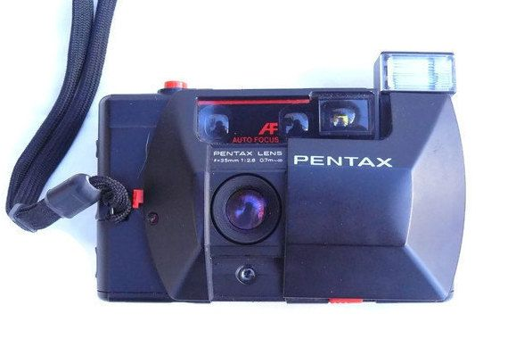 Pentax PC35 AF, Vintage Camera, 35mm Camera, Pentax Camera, 35mm Film Camera, Vintage Pentax, Autofocus Camera by HarmlessBananasTribe on Etsy
