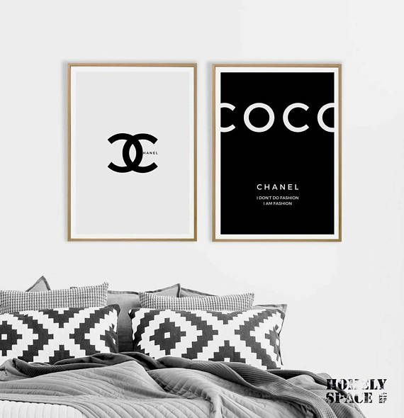Coco Chanel Prints Coco Chanel Posters Coco Chanel Quote Chanel Wall Art Wall Art Instant Download Coco Chanel Poster