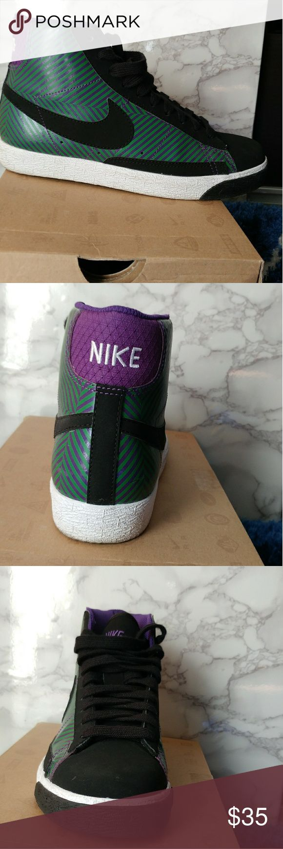 Nike Blazer Mid Gently use Nike Blazer Mid Big kids size 4.5. Boys or Girls. Great Condition #Make an offer??? Nike Shoes Sneakers