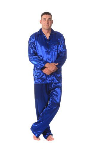 Mens Blue Satin PJs