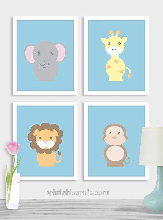 Kids wall art digital download baby boy nursery by PrintableCraft