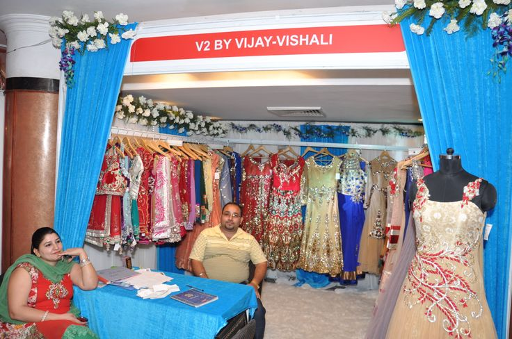 Designers Vijay and Vishail showcasing their fabulous collection.