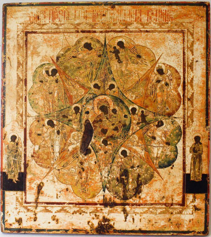 Икона Богородица «Неопалимая Купина». Продажа антиквариата в Москве