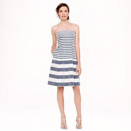 Striped Bridesmaids Dresses J.Crew
