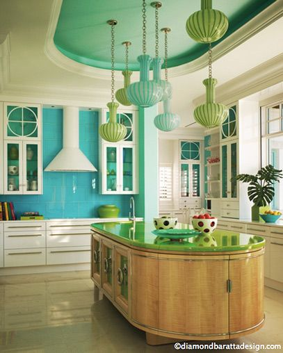 21 Impressive Cool Kitchen Island Design Ideas: 62 Best Turquoise Kitchens Images On Pinterest
