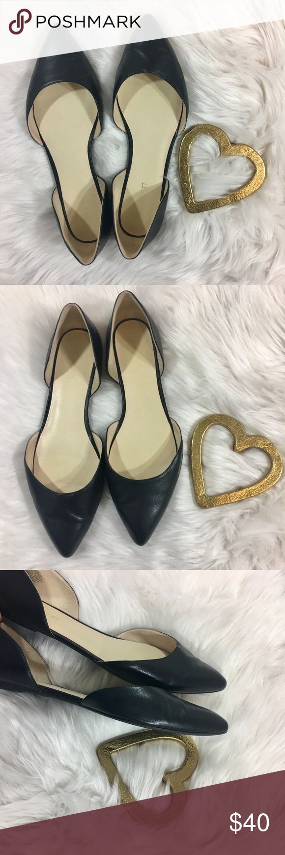 Nine West Stardust Black Leather Flats Excellent used condition! Black leather! Very little wear and tare, like new! 🚫 No trades! Reasonable offers and bundles accepted! Nine West Shoes Flats & Loafers