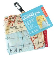 Travel Laundry Bag - Maps | Paper Products Online