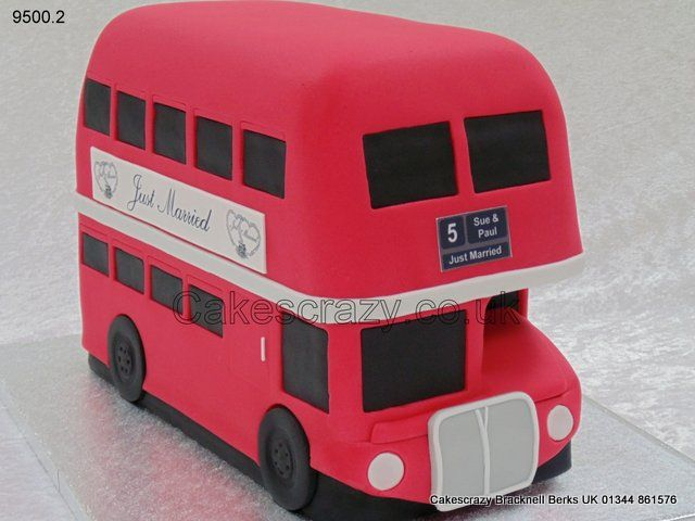 A classic London icon, this novelty shaped AEC Routemaster bus cake decorated in the popular London Transport red. http://www.cakescrazy.co.uk/details/red-london-double-decker-routemaster-bus-cake-9500-2.html