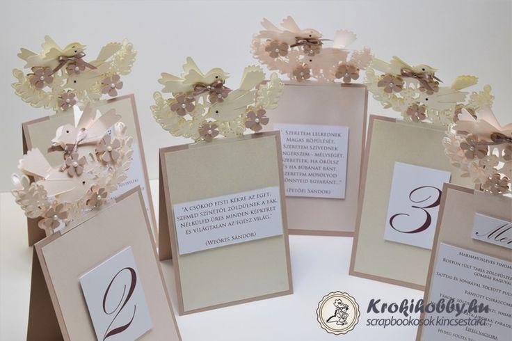 Esküvői menükártyák - Sizzix Thinlits 662101