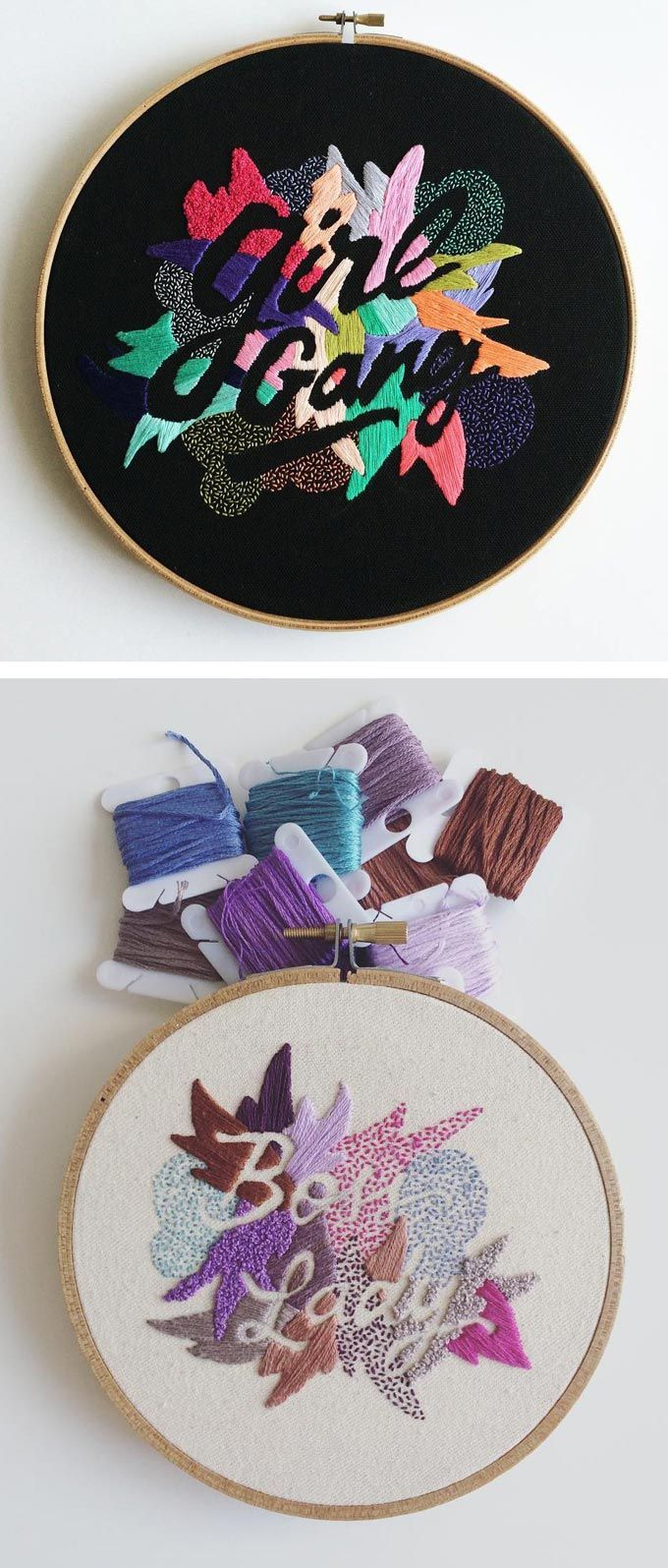 Valeria Molinari's Embroidered Sayings Inspired by Love of Words