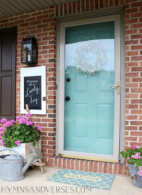 """Summer Front Door - """"It's Gonna Be a Lovely Day"""" - Hymns and Verses"""