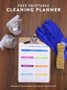 Weekly Cleaning Schedule Printable   http://TodaysCreativeBlog.net