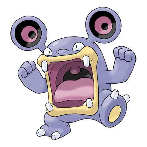 Loudred - 294 - It shouts loudly by inhaling air, and then uses its well-developed stomach muscles to exhale. The shock waves from its cries can tip over trucks. It stamps its feet to power up.  @PokeMasters