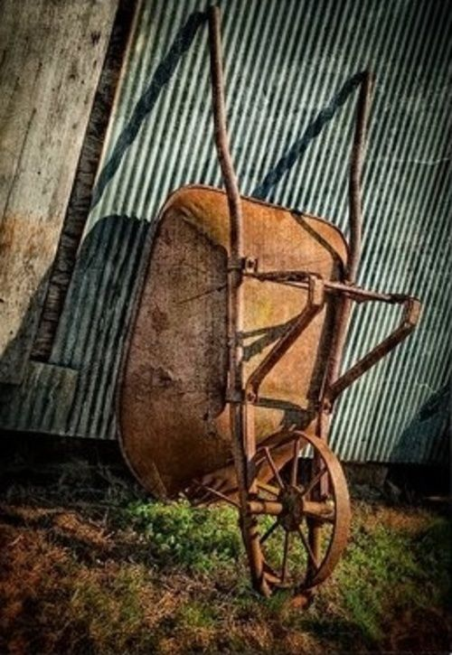 Wheelbarrow / Rusty old necessity.