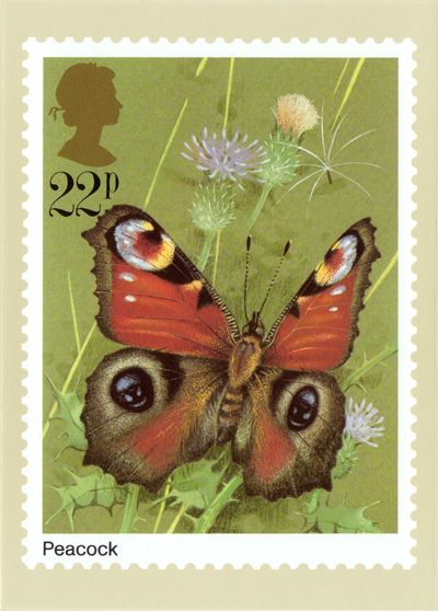 Royal Mail Butterfly Stamps | PHQ 51(c) Peacock