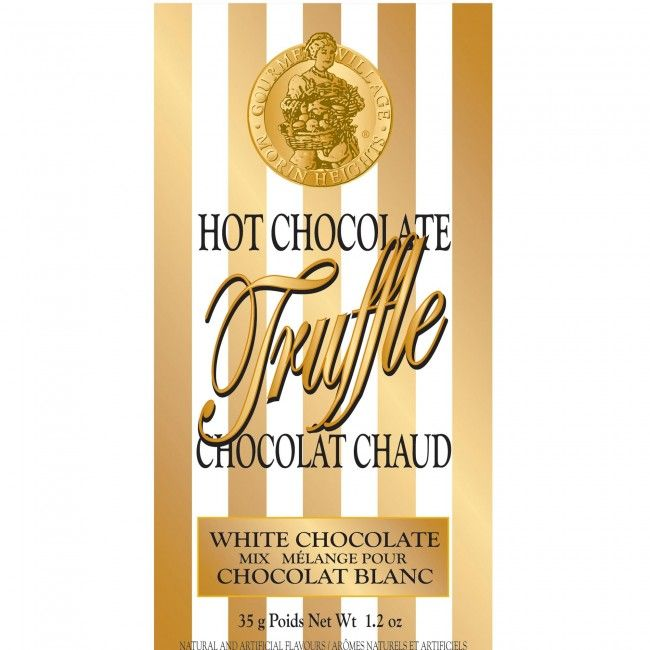 A single serve pouch of hot chocolate (35g/1.2oz) which is convenient and easy to use. Just mix with hot water for a perfect rich and creamy white truffle hot chocolate.
