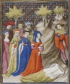 Giovanni Boccaccio, De Claris mulieribus; Paris Bibliothèque nationale de France MSS Français 598; French; 1403, 125r. http://www.europeanaregia.eu/en/manuscripts/paris-bibliotheque-nationale-france-mss-francais-598/en