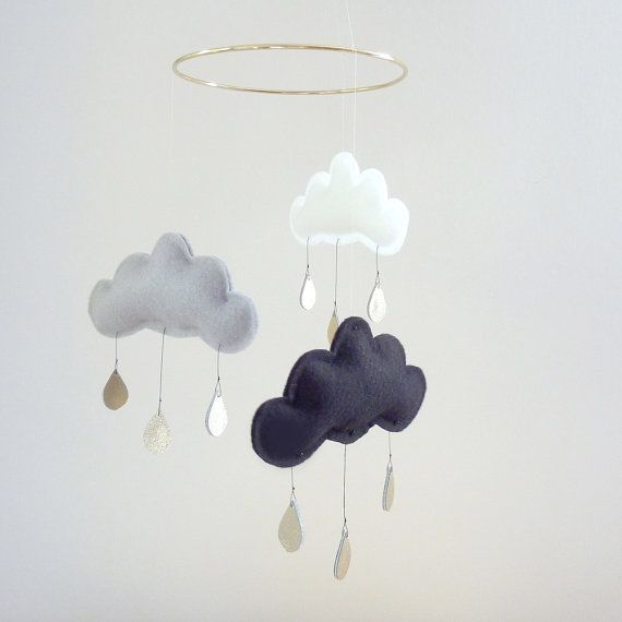 Cute raining mobile $65 on Etsy.