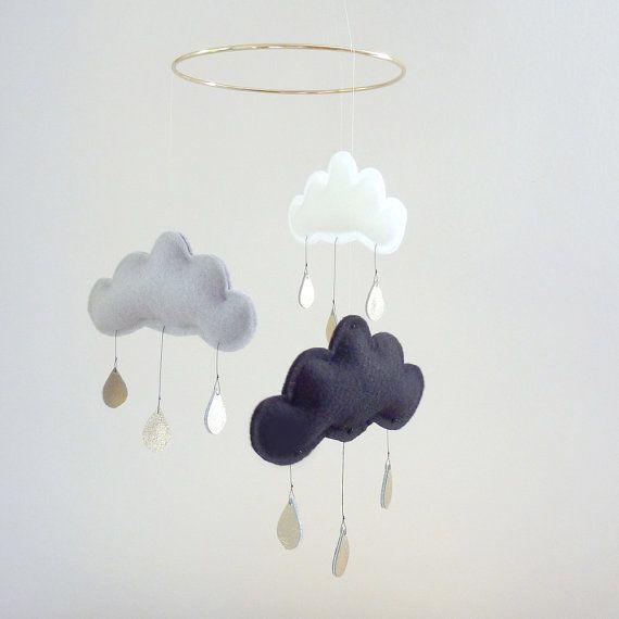 Cute raining mobile $65 on Etsy.
