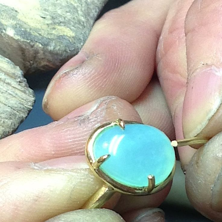 Almost done - Opal balloon rings