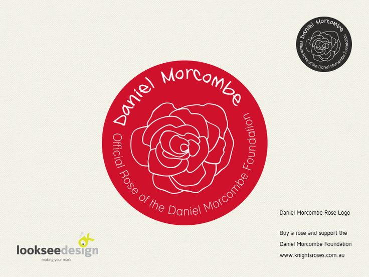 Daniel Morcombe Rose Logo - Designed by Looksee Design