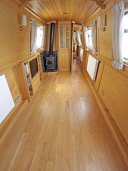 Modern Narrow Boat.   Maja uz udens   Pinterest   Boats, The o'jays and Interiors