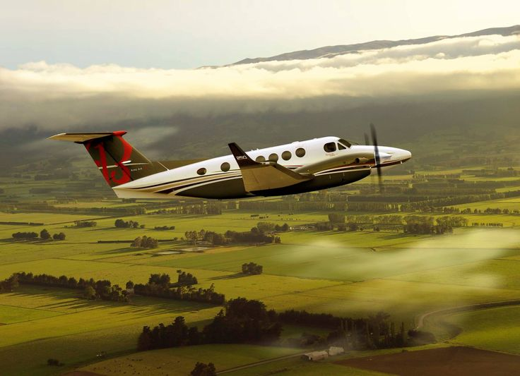 Beechcraft king air turbine equipped turboprop ascending