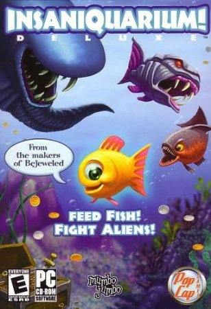 Insaniquarium is based on the highly-acclaimed PC game from PopCap. Being an aquarium owner isn't easy these days. Not only do you have to ensure that your fish are well fed, but you also have to fight off nasty aliens.