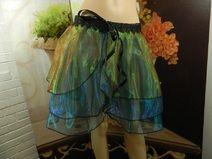 Mini Rock Bustelskirt Schleppe grün blau Petticoat