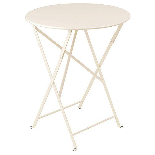 Bring the relaxed style of a Paris cafe to your patio with the Fermob Bistro Round Folding Table. It is made entirely out of durable steel, with a foldable base for convenient and compact off-season storage. The 24 Inch option comfortably seats 2-3 people for cocktails, while the 30 Inch is recommended for dinner for two or drinks for 3-4.