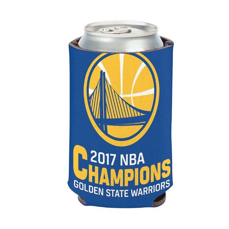 Golden State Warriors 2017 NBA Champions Can Cooler, Multicolor