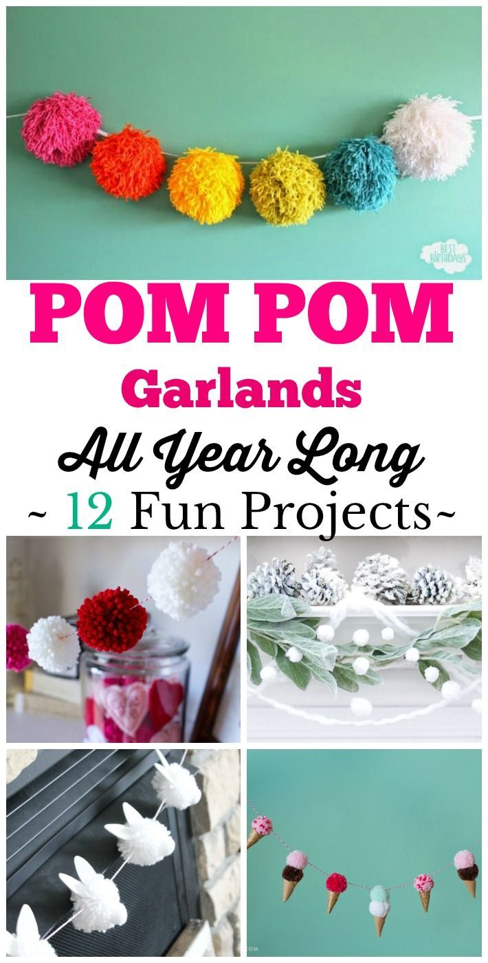 Diy Pom Pom Garlands 12 Easy Projects For Every Month Of The
