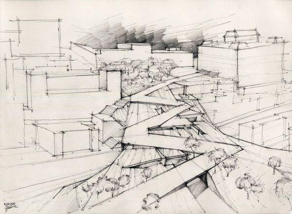 Adelina Popescu   Drawings   via Behance