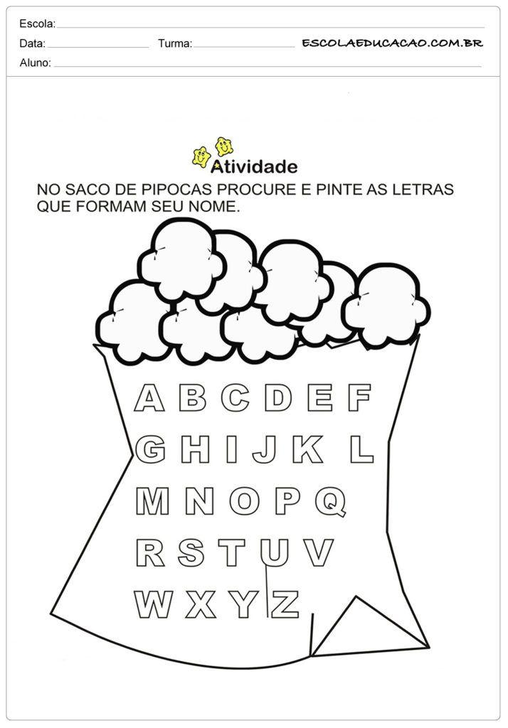 Atividades Festa Junina Para Educacao Infantil Saco De Pipoca