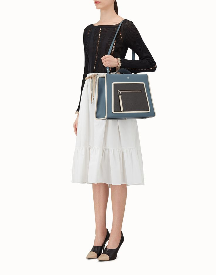 FENDI 레귤러 런어웨이 - 멀티 컬러의 가죽 백 - view 5 detail